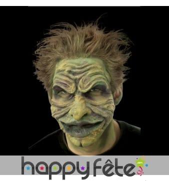 Prothèse visage de troll en mousse