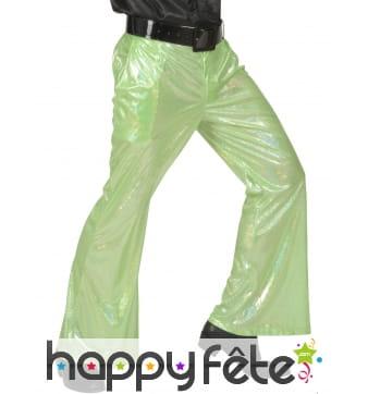 Pantalon vert holographique pour homme