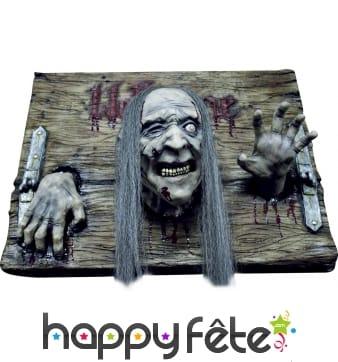 Plaque Welcome Halloween avec prisonnier