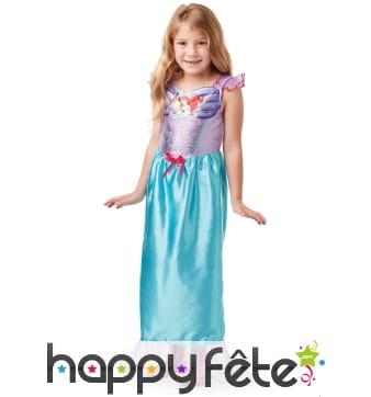 Robe Ariel buste recouvert de sequins pour fille