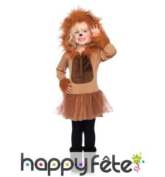 Robe à capuche de lionne pour enfant