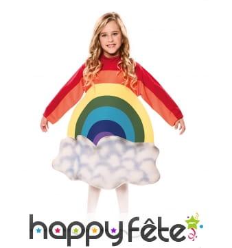 Robe arc-en-ciel pour enfant avec nuage