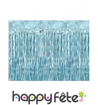 Rideau à franges bleu brillant de 90 cm x 250 cm