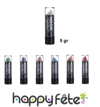 Rouge à lèvres à paillettes holographiques de 5gr