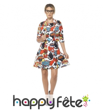 Robe aux motifs comic Strip