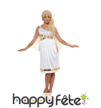 Robe blanche de déesse grecque