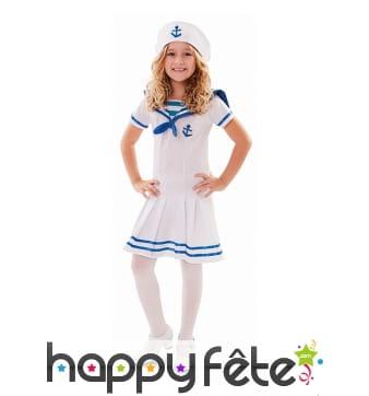 Robe blanche de marin pour enfant