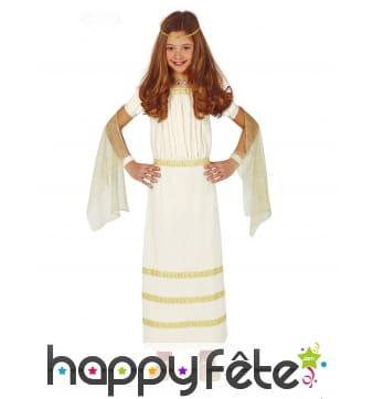 Robe blanche de romaine pour enfant