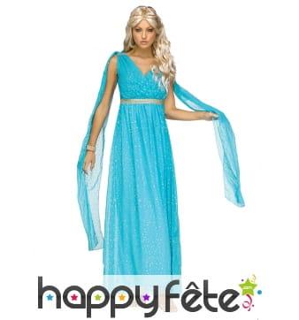 Robe bleue de déesse