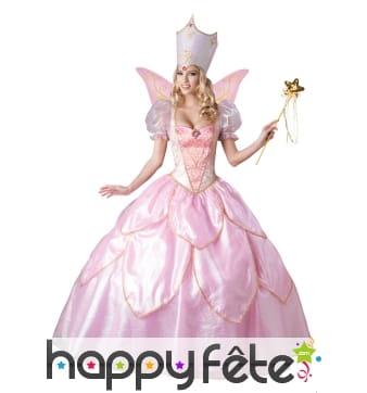 Robe bouffante de fée rose haut de gamme