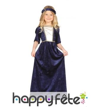 Robe bleue médiévale pour enfant