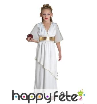 Robe blanche unie de petite déesse