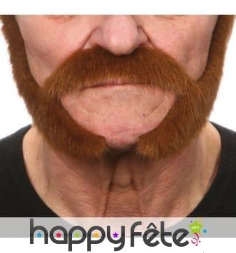 Rouflaquettes chatain avec moustaches