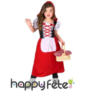 Robe cape capuche de petit chaperon rouge enfant