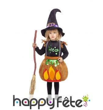Robe chaudron de petite sorcière pour enfant