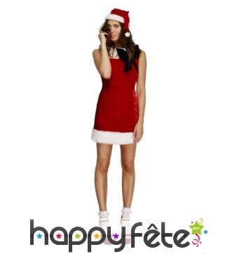 Robe courte de mère Noël et bonnet