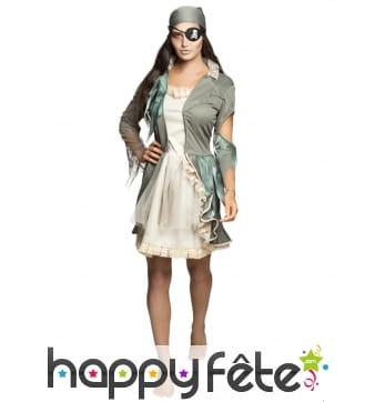 Robe courte de pirate fantomatique pour femme