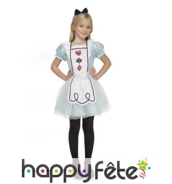 Robe de Alice pour enfant avec coiffe