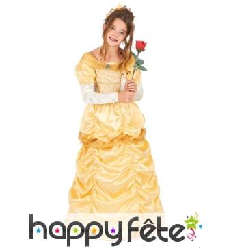Robe de Belle princesse pour enfant, avec couronne