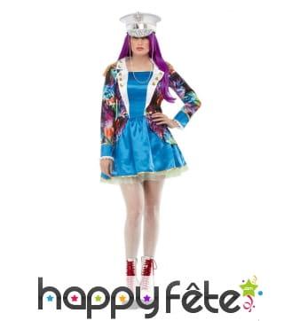 Robe de Carnaval multicolore pour femme