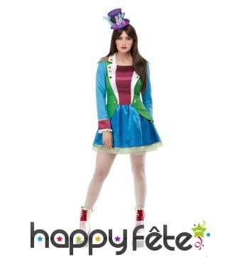 Robe de carnaval verte et violette pour femme