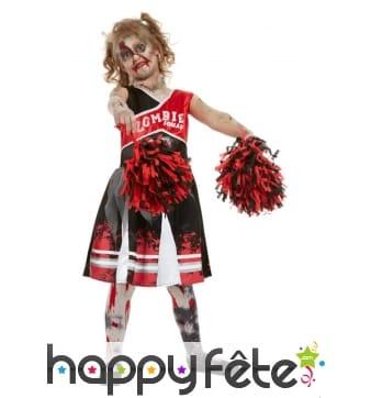 Robe de Cheerleader zombie pour enfant