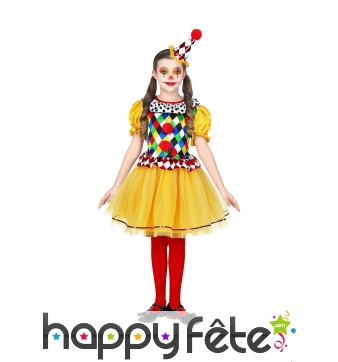 Robe de clown pour enfant, multicolore