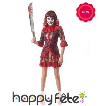 Robe de clown tueuse pour femme