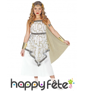 Robe de déesse Grecque pour enfant