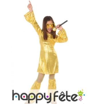 Robe disco dorée pour enfant