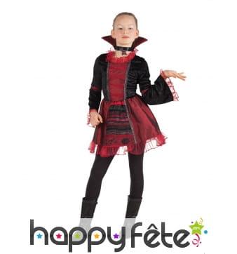 Robe d'enfant vampire avec haut col
