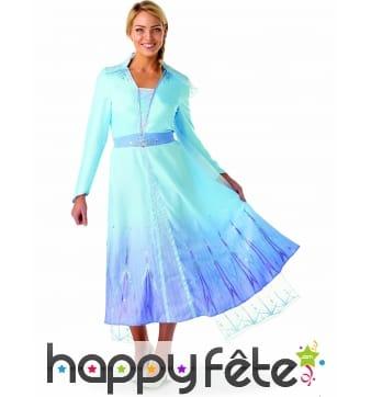 Robe de Elsa pour femme, La Reine des neiges 2