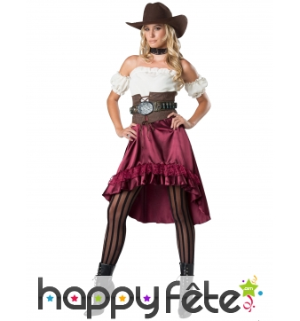 Robe de femme western