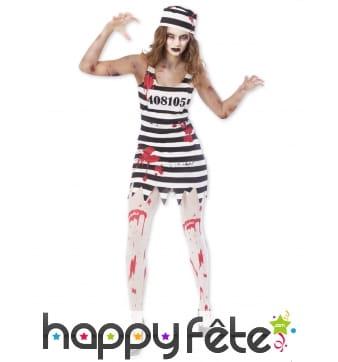 Robe de femme zombie prisonnier