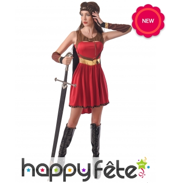 Robe de guerrière médiévale pour adulte