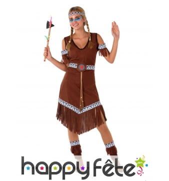 Robe d'indienne marron pour ado