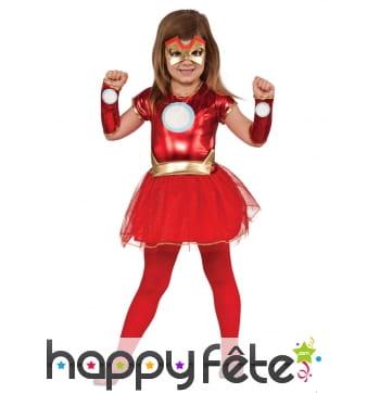 Robe de Iron Lady Avengers avec tutu pour fille