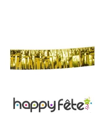 Rideau de lamelles dorées 30cm x 6m