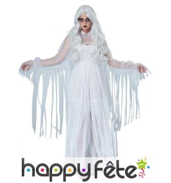 Robe de la dame blanche avec lambeaux, adulte