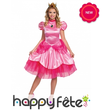 Robe de la Princesse Peach pour femme, Deluxe