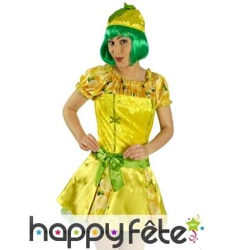 Robe de madame citron avec chapeau