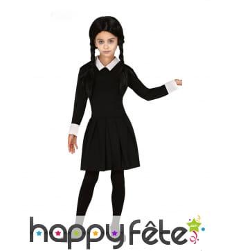 Robe de Mercredi Addams pour enfant