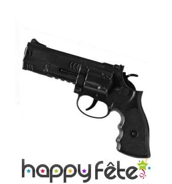Revolver de policier noir, 21 cm