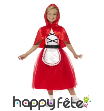 Robe de petit chaperon rouge pour enfant