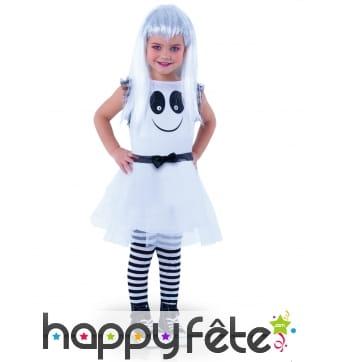 Robe de petit fantôme blanc, yeux mobiles