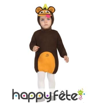 Robe de petit singe pour bébé, avec coiffe