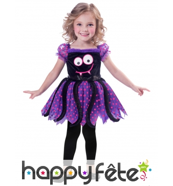 Robe de petite araignée rigolote pour enfant