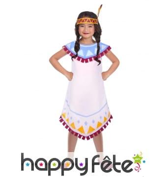 Robe de petite indienne blanche