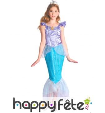 Robe de petite sirène bleu et violet
