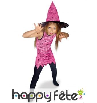 Robe de petite sorcière rose